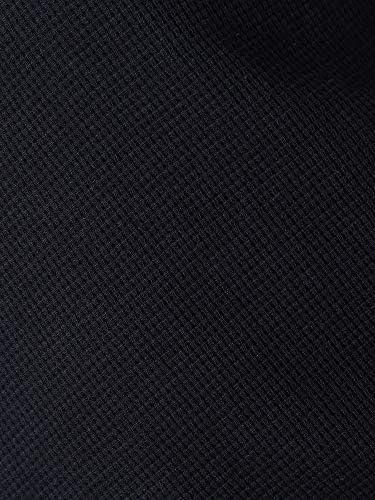 ワッフル 無地 ヘンリーネック 半袖 Tシャツ [BTOP1907]