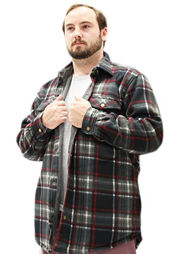 Woodland Supply Co. Mens' Thermal Lined Plaid Outerwear Shirt Jacket,X-Large,Multi ()