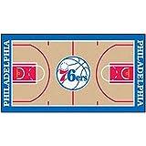 FANMATS NBA Philadelphia 76ers Nylon Face NBA Court Runner-Small