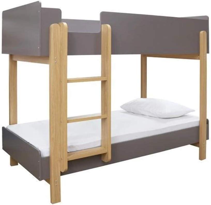 Lpd Hero Contemporary Childrens Bunk Bed White Oak Or Grey Oak Grey Oak Amazon Co Uk Kitchen Home