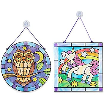 Amazoncom Melissa Doug Stained Glass Made Easy Activity Kit - Stained glass window stickers amazon
