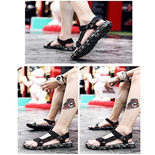 Sport Toe adatti Comodi Sport estivi Sandali Sandali Sandali il Open Men's Slip Xiaoqin libero tempo Green Regolabili Romani per Ewq4TT