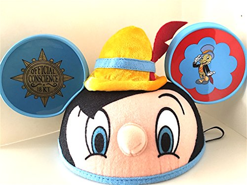 [Disney Parks Exclusive Pinocchio Ears Hat NEW] (Pinocchio Adult Costumes)