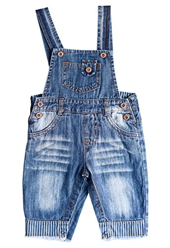 ZL MAGIC Baby /& Little Boy//Girl Soft Washed Denim Bib Overalls Various Styles