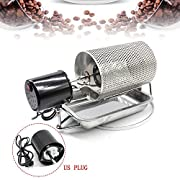 Product Description Name: Coffee Bean Roaster(with stainless steel tray) Material: Stainless Steel Voltage: AC 110V Capacity: max. 600g(250g for the best) Machine size:38cm Drum diameter:14cm Drum height: approx.19.5cm Material: Stainless Steel Produ...
