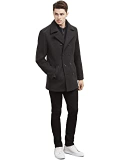 4b533cbd3a8 Kenneth Cole REACTION Men s Plush Peacoat With Scarf at Amazon Men s ...