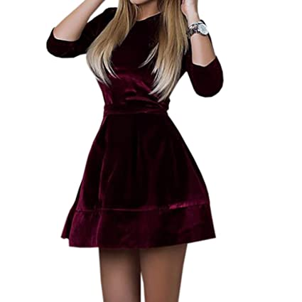 GLOGLOW Vestito da Donna 41b4d4b7ec5