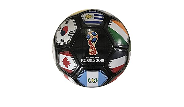 Icon Sports FIFA 2018 World Cup Rusia - Balón de fútbol, Negro ...