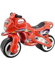 deAO Moto Correpasillos sin Pedales Andador Infantil de Empuje Motocicleta Roja