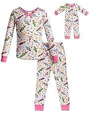 طقم ملابس نوم مناسب للفتيات من دوللي آند مي زي دمية مطابق