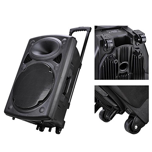 3f8bb748d AW 1500W Portable Active PA Speaker w Wireless Microphone - Import It All