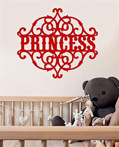 - Wall Stickers Design Art Words Sayings Removable Lettering Princess Signboard Children's Room Girls