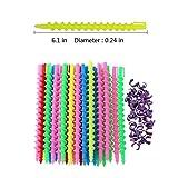 VinBee 84 PACK Plastic Spiral Hair Perm Rod