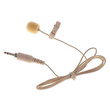 MagiDeal Mini micrófono Jack 3.5 mm Micro Corbata para grabación ...