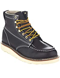 "EVER BOOTS ""Weldor Men's Moc Toe Construction Work Boots Wedge Soft Toe"