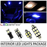 LEDpartsNOW Chevy Camaro 2010-2014 Blue Premium LED Interior Lights Package Kit (4 Pieces)