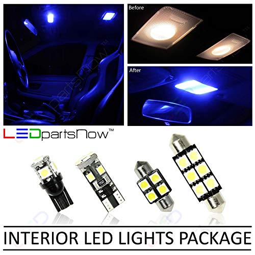LEDpartsNow 2011-2018 Jeep Grand Cherokee & Dodge Durango LED Interior Lights Accessories Replacement Package Kit (15 Pieces), BLUE