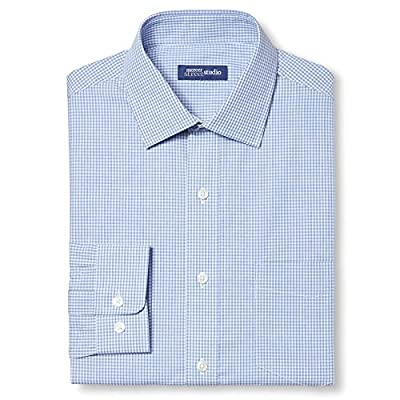 Mercer Street Studio Men's Classic Fit Non-Iron Button-Up Dress Shirt