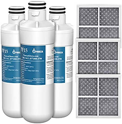 3 Pack Refrigerator Air Filter Replacement for LG LFXS26596S