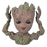 Treeman Baby Groot Movie Action Figure Kawaii Creative Flowerpot Multifunction Desk Organizer Pen Holder Gift for Kids (HandsUp Treeman)