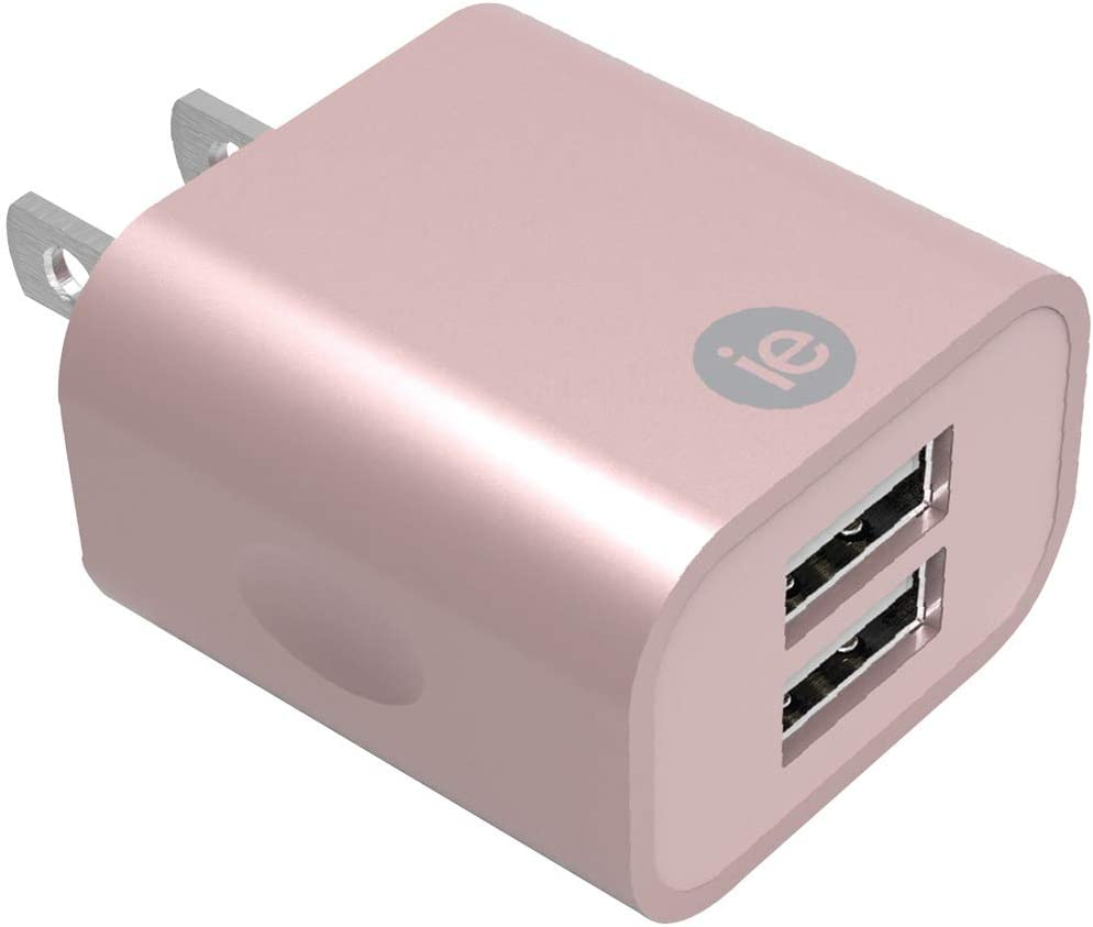 iEssentials 2.4-Amp Dual USB Wall Charger Rose Gold (IENAC22ARGLD)
