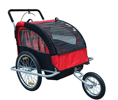 2In1 Double Baby Bike Trailer And Stroller - 6