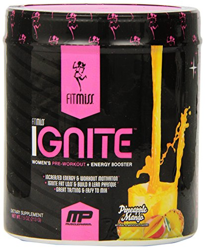 Fitmiss Ignite 30 Servings, Pineapple Mango,  Net wt. 7.5oz.