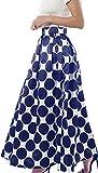 NINEWE Womens Vintage Polka Dots A-Line Skater Skirt Maxi Wedding Ball Gown Bluepot US14