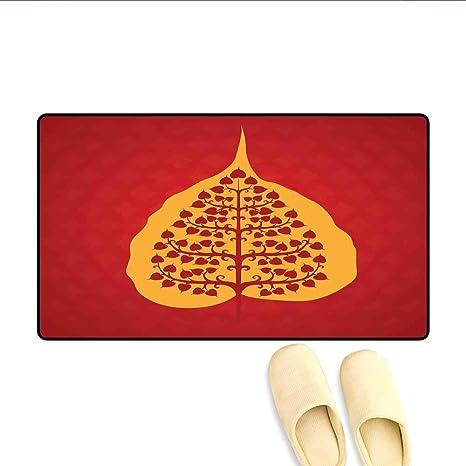 Amazon.com: Bath Mat Artistic Design of Bodhi Tree Nature ...