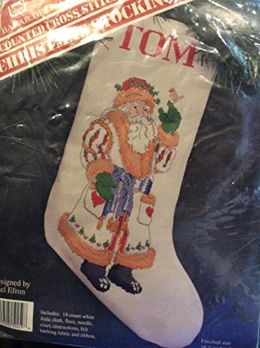 Counted Cross Stitch Christmas Stocking 16.5