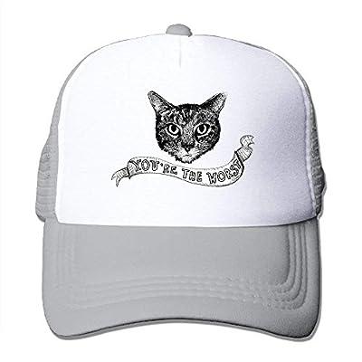 Worst Cat Sports Snapback Stylish Baseball Cap Mesh Trucker Hat from cxms