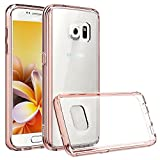 Galaxy S7 Case - Vakoo Samsung S7 Case [Crystal Clear] Scratch Resistant Hard Back Plate Drop Proof Protective TPU Bumper Cover Smart Phone Case for Samsung Galaxy S7 (Rose Gold)