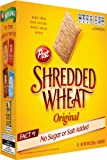 Post Shredded Wheat Original Cereal (18-Biscuits), 15-Ounce Boxes (Pack of 4)