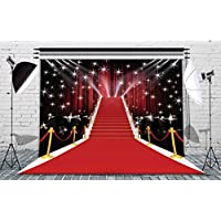 8x8ft Stage Lighting Red Carpet Photography Backdrop Seamless Vinyl Photo Video Studio Props Customized Background AA-035