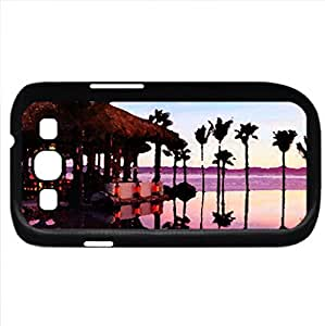 Aqua restaurant (Beaches Series) Watercolor style - Case Cover For Samsung Galaxy S3 i9300 (Black)