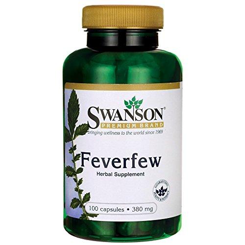 Swanson Feverfew 380 Milligrams 100 Capsules
