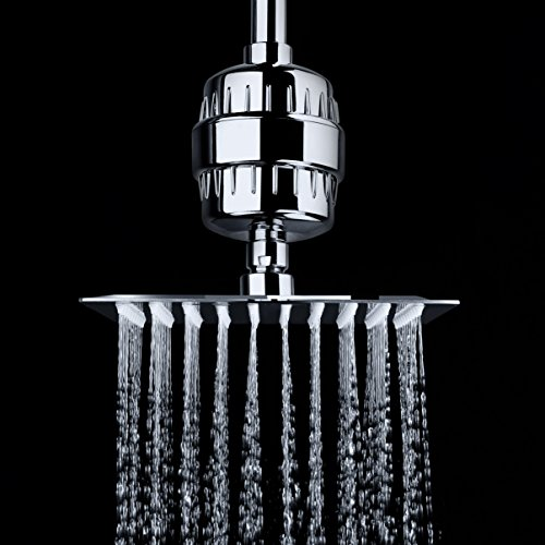 aquabliss high output universal shower filter with replaceable multi stage fi. Black Bedroom Furniture Sets. Home Design Ideas