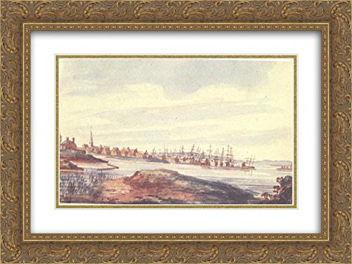 Pavel Svinyin 2x Matted 24x18 Gold Ornate Framed Art Print 'Town on the - Galleria Riverside