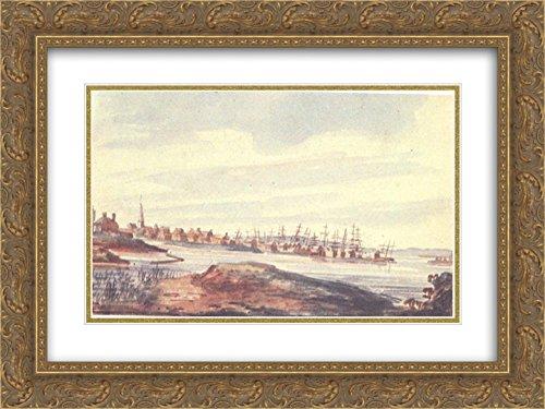 Pavel Svinyin 2x Matted 24x18 Gold Ornate Framed Art Print 'Town on the - Riverside Galleria