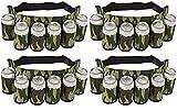 EZ DRINKER Beer & Soda Can Holster Belt, Holds 6 Beverages (4-(Pack))