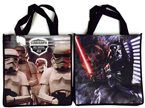 Star Wars Tote Bag Bundle Reusable Grocery Gift Wrap The Force Awakens (Darth and Stormtrooper photo)