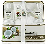 Pure by Rachelle Parker Coconut Spa Gift Basket for Women - Bath & Body Gift Set with Coconut Milk Spa Kit for Relaxation Gifts!