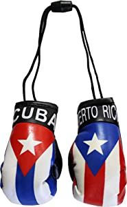 Puerto Rico and Cuba Mini Boxing Gloves