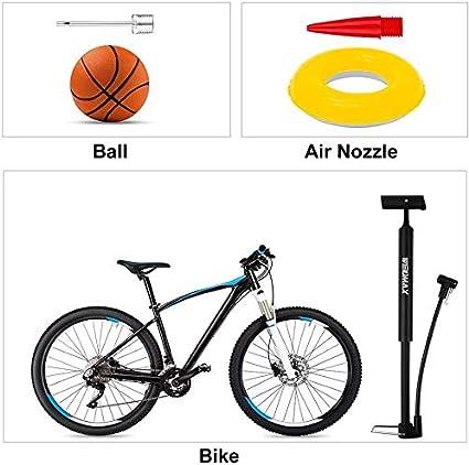 Juguetes Inflables Utilizada para Bicicletas Pelotas Autos El/éctricos con Aguja de Bola APIKA Mini Bomba de Bicicleta Port/átil Bomba Manual de Aire