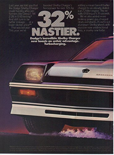 Print ad: 1984 Dodge Shelby Charger