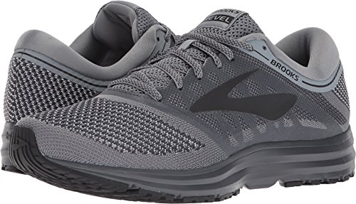Brooks Men's Revel Grey/Ebony/Black 10.5 D US