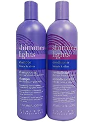 Clairol Shimmer Lights 16 oz. Shampoo + 16 oz. Conditioner...