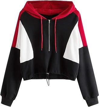 DERENFR Sweatshirt Fille,Sweats à Capuche Femme,Sweat