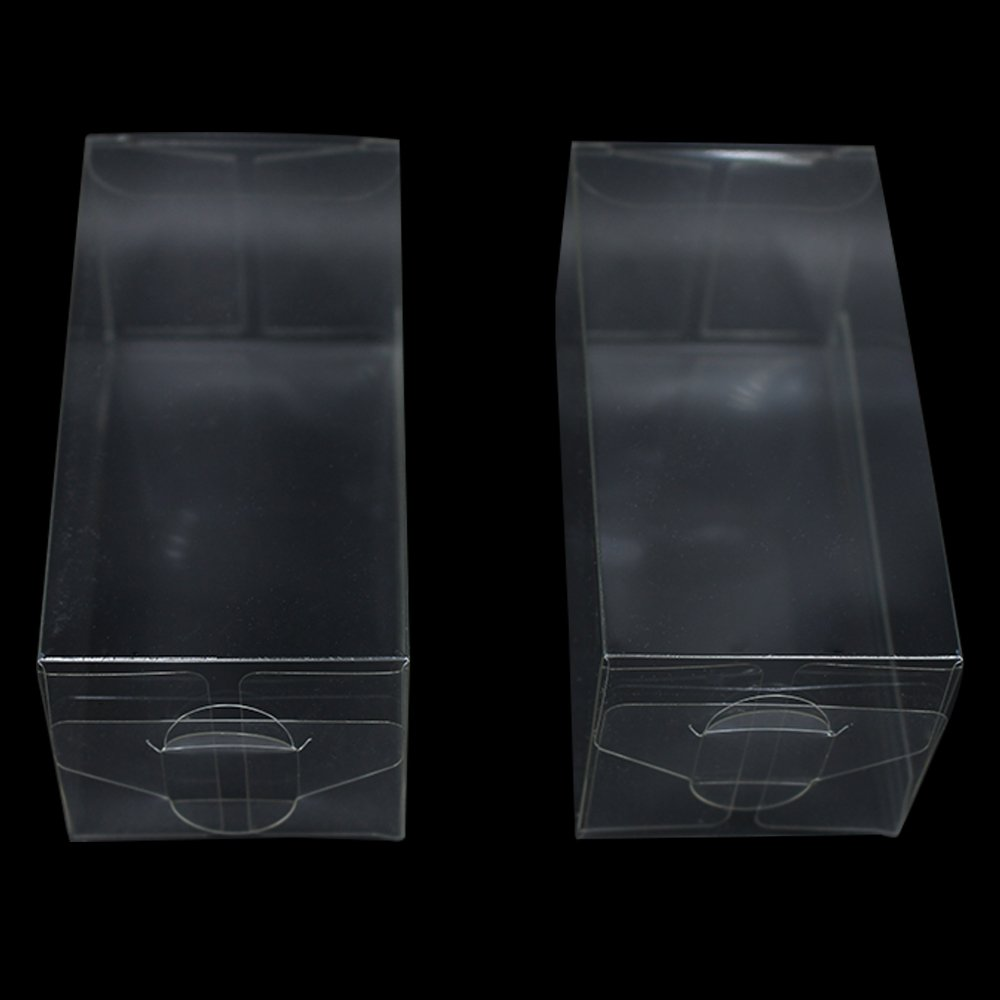 Variety Size Clear PVC Gift Present Candy Cupcake Favor Decoration Poly Boxes Transparent Bridal Crafts Arts Invitation Retail Product Wrapping Packaging Box (200, 2.0x2.0x3.9 inch(5x5x10 cm))