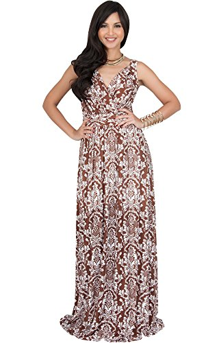 brown and white floral dress - 4